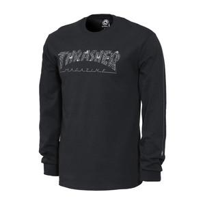 Thrasher Web Long Sleeve T-Shirt - Black