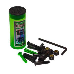 """Thunder 1"""" Skateboard Hardware — Black/Green"""