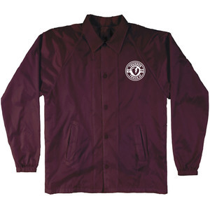 Thunder Mainline Coach Windbreaker Jacket — Maroon/White