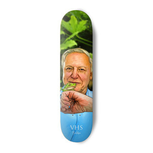 "VHS Nostalgic Attenborough 8.0"" Skateboard Deck"