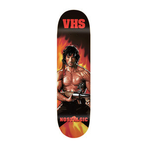 "VHS Nostalgic Rambo 8.25"" Skateboard Deck"