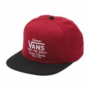 Vans Authentic Snapback Hat - Rhubarb/Black