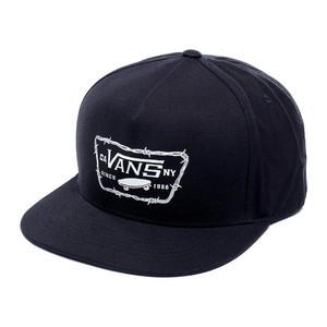 Vans Full Patch Barbed Snapback Hat - Black