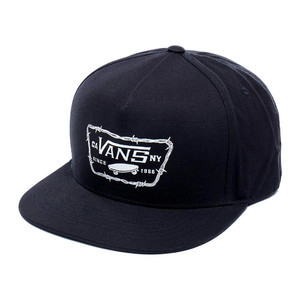 de6f278d3ea Vans Full Patch Barbed Snapback Hat - Black