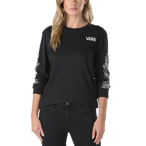 Vans Women's Rose Thorns Long Sleeve T-Shirt - Black