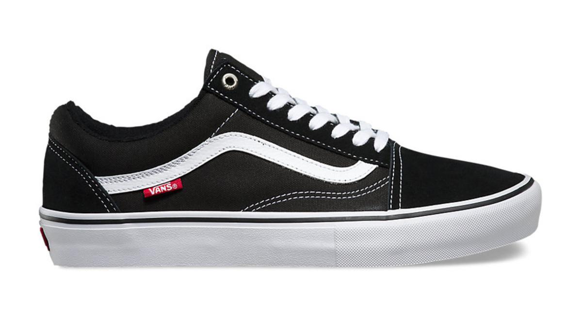 Vans Skate Shoe White Black Background
