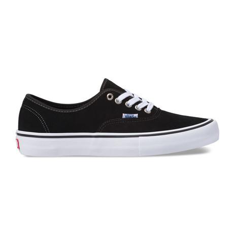 Vans Authentic Pro Suede Skate Shoe - Black / White