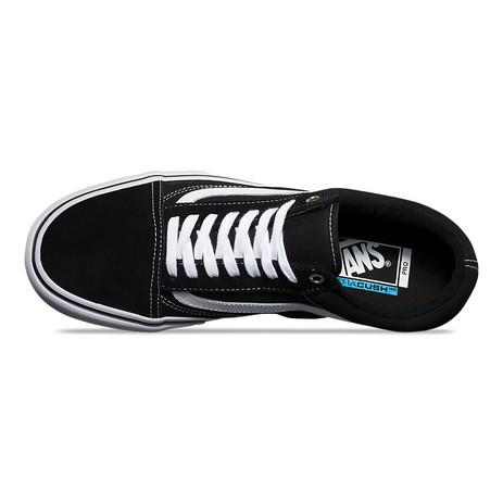 Vans Old Skool Pro Skate Shoe - Black/White