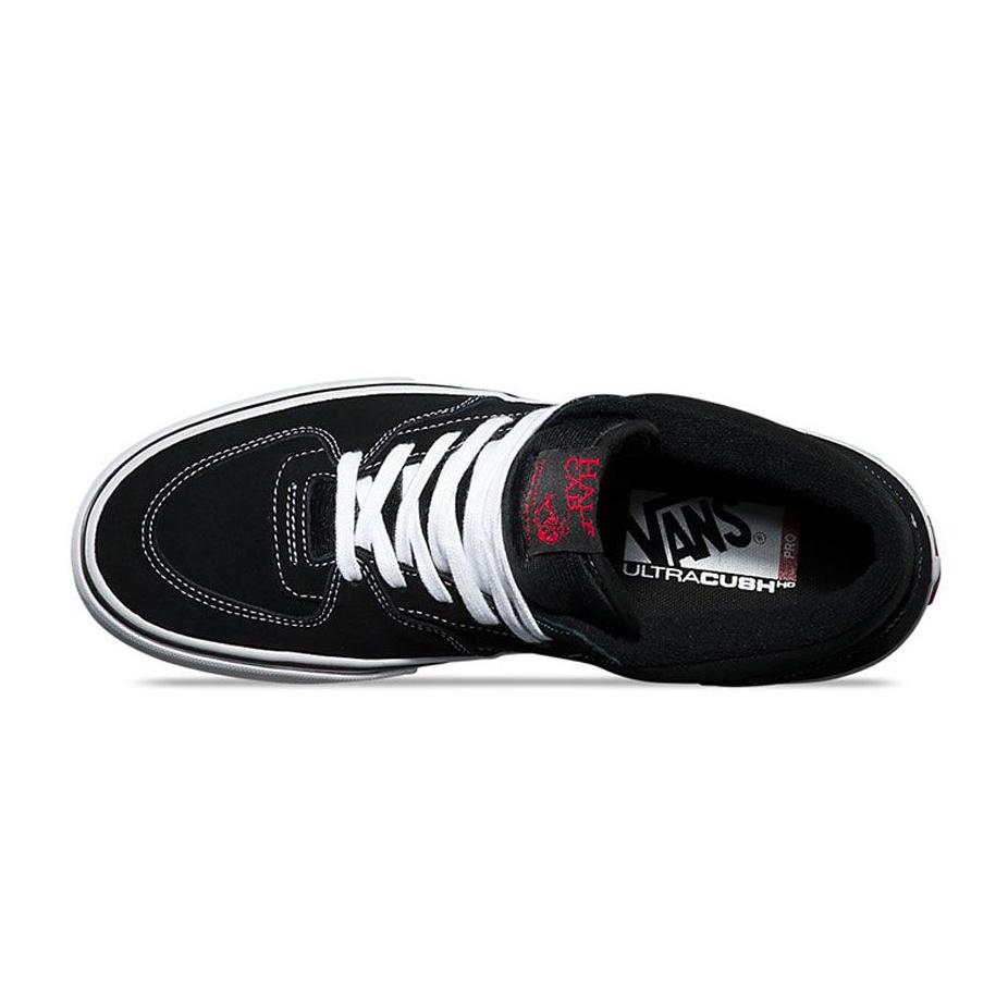 Vans Half Cab Pro Skate Shoe - Black White Red  e214d08b1
