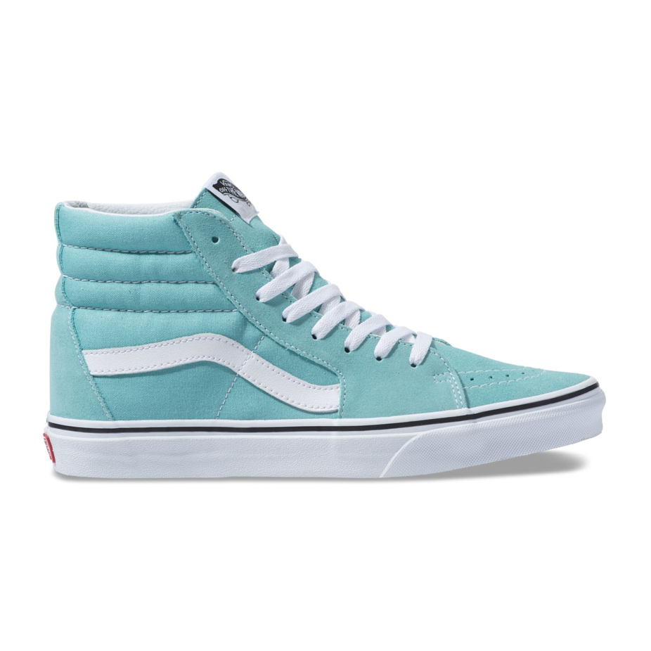 69e72c7691 Vans Sk8 Hi Women s Skate Shoe - Aqua Haze True White