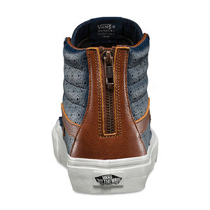 1d22ae5626 Vans Sk8 Hi Leather Perf Reissue Zip Shoe - Dress Blue Friar Brown ...