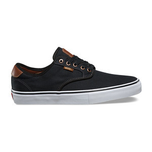 Vans Chima Ferguson Pro Skate Shoe - Brushed Twill/Black