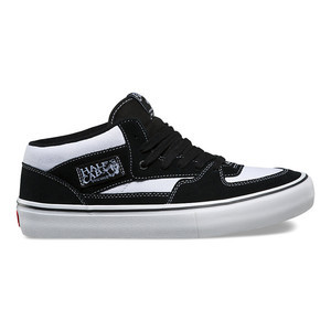 Vans Half Cab Pro Skate Shoe - White/Black/White