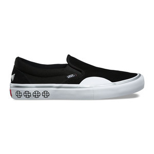 Vans x Independent Slip-On Pro Skate Shoe - Black / White