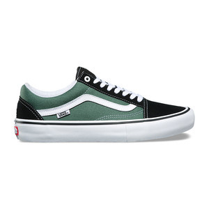 Vans Old Skool Pro Skate Shoe - Black/Duck Green