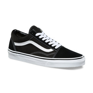 Vans Old Skool Skate Shoe - Black/White