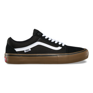 Vans Old Skool Pro Skate Shoe - Black/White/Medium Gum