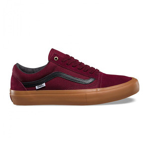 Vans Old Skool Pro Skate Shoe - Port/Black/Gum