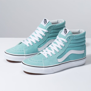 Vans Sk8 Hi Women's Skate Shoe - Aqua Haze/True White