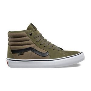 Vans Sk8 Hi Pro Skate Shoe - Olive/Black