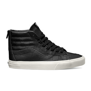 Vans Sk8 Hi Leather Perf Reissue Zip Shoe - Black/White