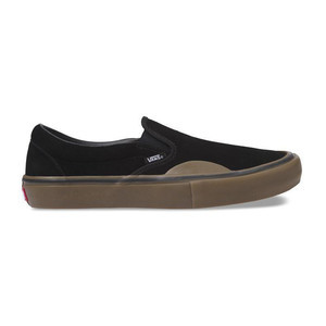 Vans Slip-On Pro Skate Shoe - Black/Gum