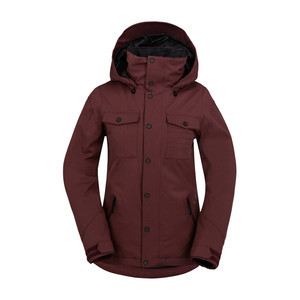 Volcom Eagle Insulated Women's Snowboard Jacket 2017 - Burgundy