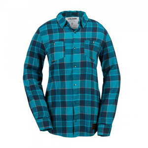 Volcom Granite Women's Flannel Shirt - Teal