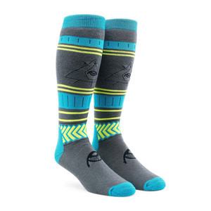 Volcom See All Snowboard Sock - Blue/Black