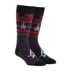 Volcom Spear Women's Snowboard Sock - Deep Purple