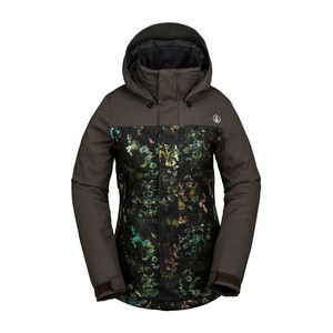 Volcom Vaycay Insulated Women's Snowboard Jacket 2017 - Black Floral Print