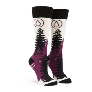 Volcom Women's Tundra Tech Snowboard Sock - Black