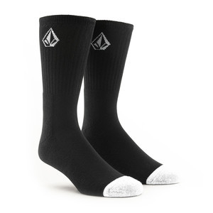 Volcom Full Stone Socks - Black - 3 Pairs