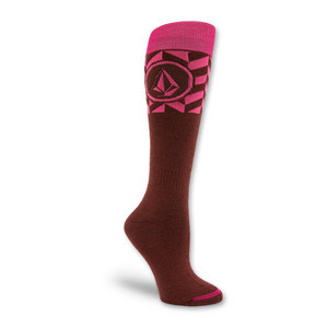 Volcom Force Tech Snowboard Sock - Maroon