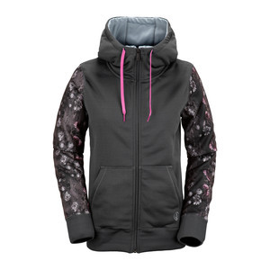 Volcom Lovage Women's Fleece Zip Hoodie - Charcoal