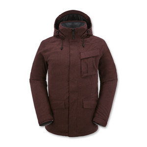 Volcom Mails Insulated Snowboard Jacket - Burgundy