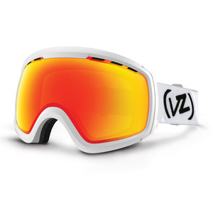 VonZipper Feenom NLS Snowboard Goggles - White Satin/Fire Chrome