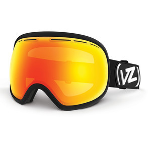 VonZipper Fishbowl Snowboard Goggles - Black Satin/Fire Chrome