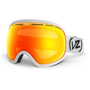 VonZipper Fishbowl Snowboard Goggles - White Satin/Fire Chrome