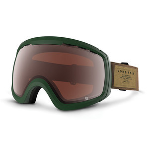 VonZipper Feenom NLS Snowboard Goggles 2017 - SIN Hunter Green/Persimmon Chrome