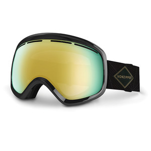 VonZipper Skylab Snowboard Goggles 2017 - Black Gloss/Gold Chrome
