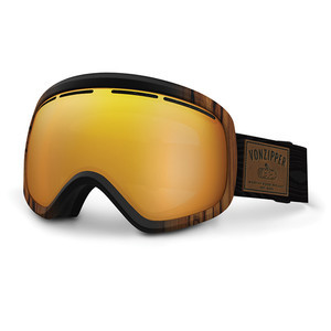 VonZipper Skylab Snowboard Goggles 2017 - Walnut Wood/Copper Chrome