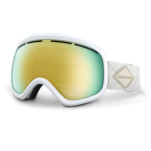 VonZipper Skylab Snowboard Goggles 2017 - White Gloss/Gold Chrome