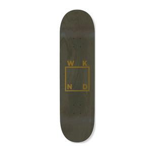 """WKND Logo 8.25"""" Skateboard Deck - Green/Gold"""