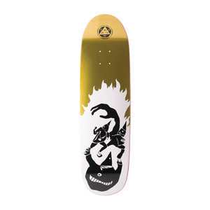 "Welcome Creepers 8.8"" Skateboard Deck - White/Gold Foil"