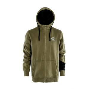 Yuki Threads Block Zip DWR Hoodie - Olive/Black