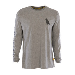 Yuki Threads Gang Related Long Sleeve T-Shirt - Mid Grey