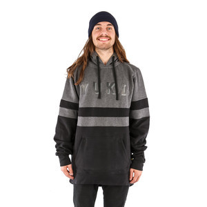 Yuki Threads Parallel DWR Hoodie - Charcoal Marl/Black