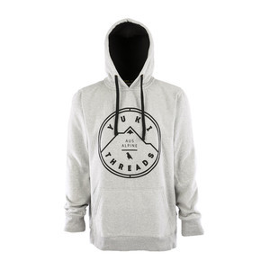 Yuki Threads Stamp Hoodie - Heather Grey