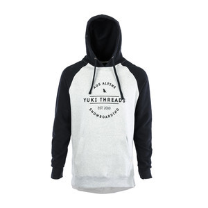 Yuki Threads Retro DWR Hoodie - Black / Heather Grey